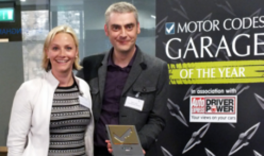 Top marks for Top Marques in Motor Codes Garage of the Year contest!
