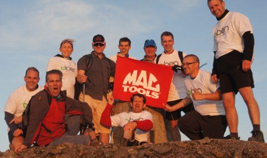 Mac Tools complete charity 3 peaks climb