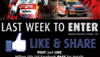 WIN Rally GB Tickets with Millers Oils