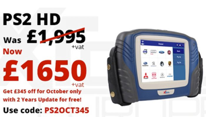 XTOOL PS2 HD truck, bus, coach scan tool offer