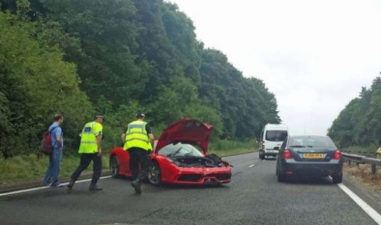Customer crashes £200,000 Ferrari on test drive