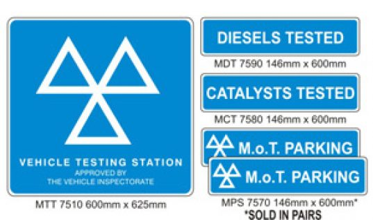 Exterior MOT Sign Pack from Prosol