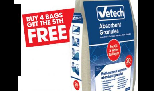 Vetech absorbent granules – free extra bag