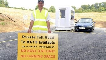 Frustrated driver builds his own toll road on A431
