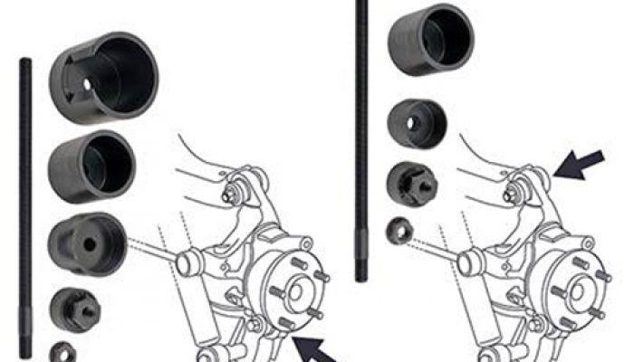 Range Rover rear suspension bush tools