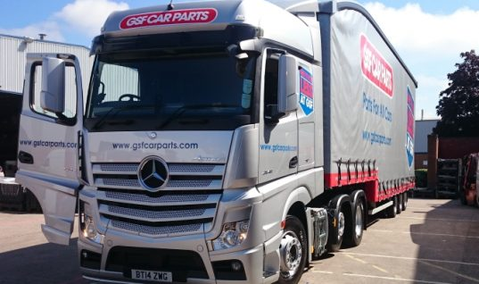 GSF Car Parts add new Mercedes truck to fleet