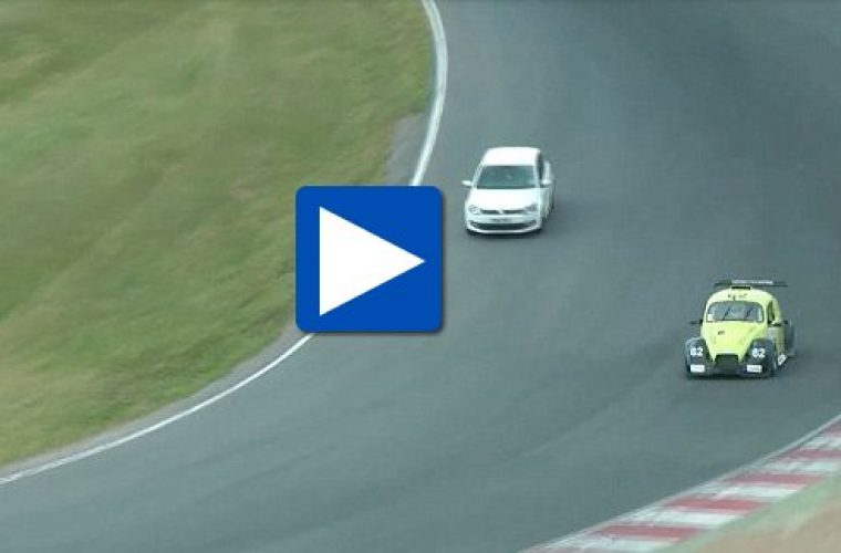 Video: VW Polo driver who joined Brands Hatch race faces jail