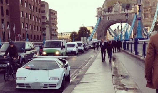 Mystery of Lamborghini left on Tower Bridge