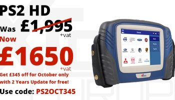 £345 off the PS2HD Scan Tool from XTool Europe