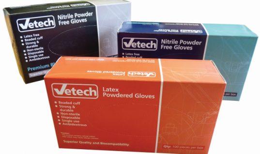 New Vetech disposable glove range