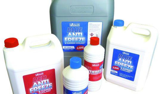 Vetech antifreeze now in stock!