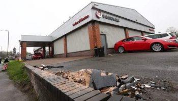 £100,000 bill as car crashes into dealership