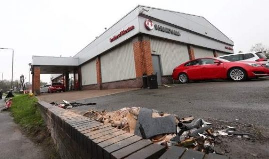 £100,000 bill as car crashes into dealership