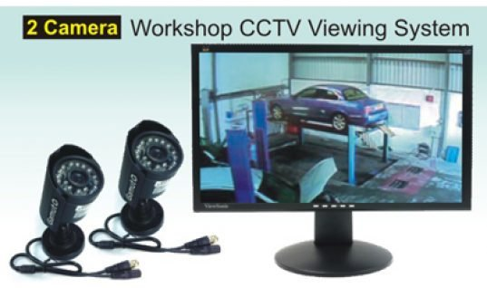 New workshop 2 camera CCTV viewing system