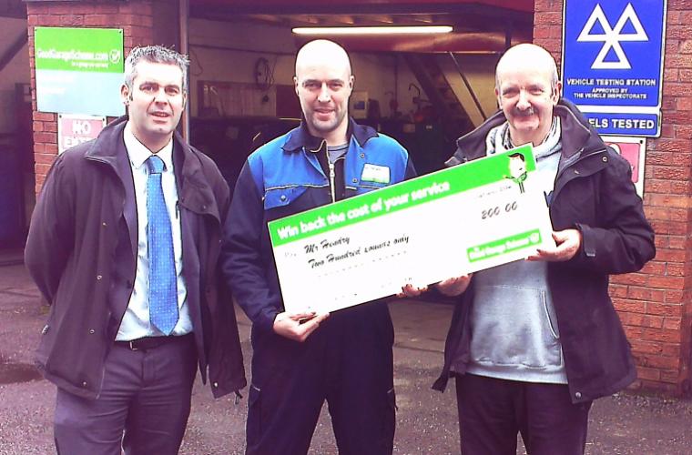 Stirling motorist wins Good Garage Scheme prize