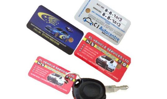 Free sample pack of MOT and service reminder Keyfobs