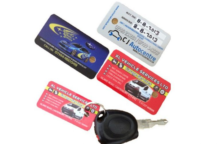 Free sample pack of MOT and service reminder Keyfobs