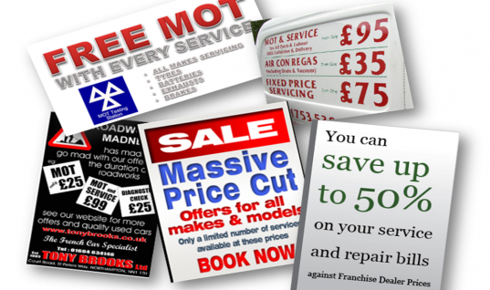 Are car servicing offers too good to be true?