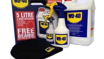 Free beanie hat with 5 litre boxes of WD-40
