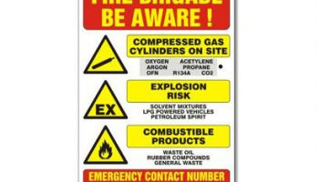 Prosol UK fire hazard warning sign