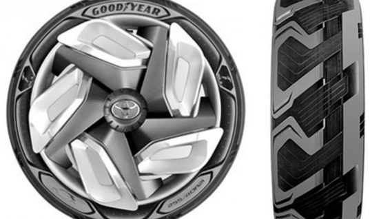 Goodyear's electric charging concept tyre