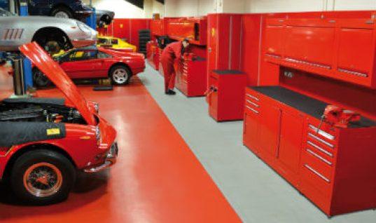 Bespoke Dura fit for prestige Ferrari workshop