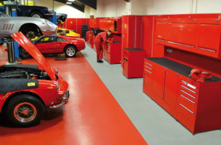 Bespoke Dura fit for prestige Ferrari workshop