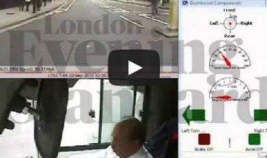 Video: London bus brake failure causes terrifying crash