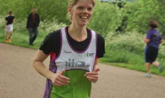 Woman runs 5k for BEN months after being told she may not walk