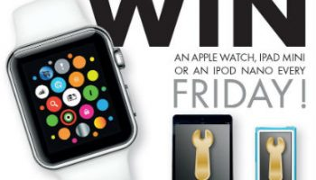 Win an Apple prize every Friday in Tenneco's Golden Spanner Promo