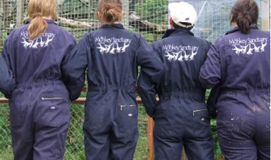 Dickies donate coveralls to monkey sanctuary