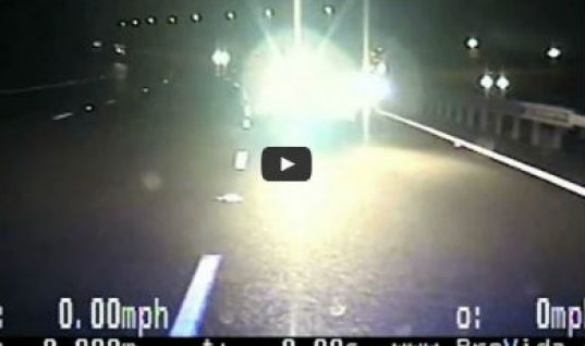 Video: dramatic footage reveals police bravery in M6 collision