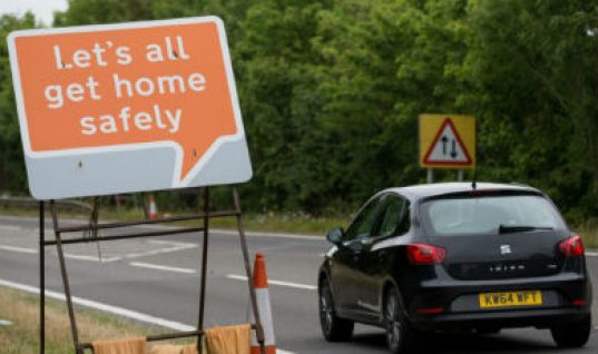 New 'happy' road signs welcome motorists to roadworks