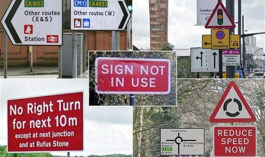 Government want to get rid of 'pointless' road signs
