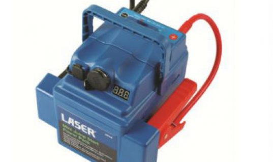 Amazingly compact jump start power pack from Laser Tools