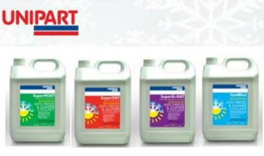 Unipart's concentrated antifreeze fulfils CV requirements