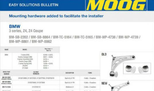 Additional components from MOOG ensures trouble free fitment