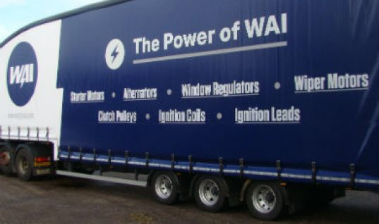 WAI branded truck hits UK roads