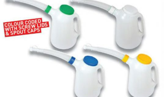 Colour coded measuring jugs from GSF Car Parts