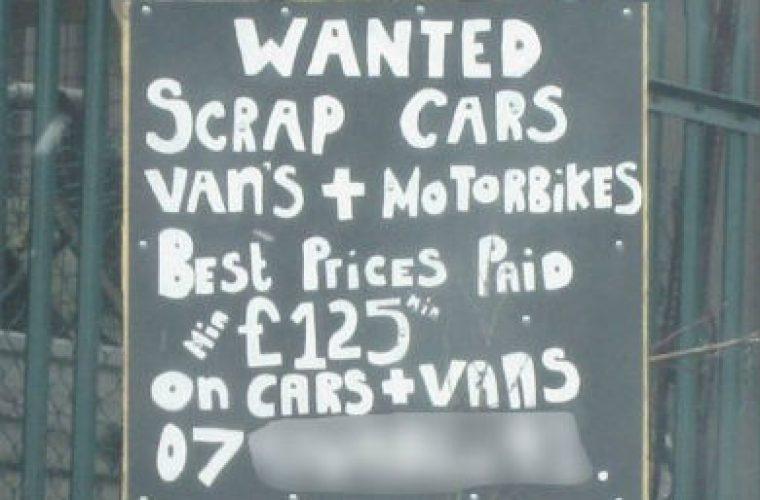 Scrap Metal Prices Cars >> Garage denies running illegal scrap yard while stood next to this sign - Garagewire
