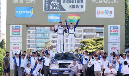 KYB and Toyota Auto Body continue Dakar success