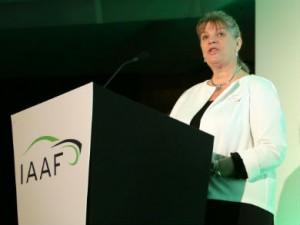 IAAF chief executive, Wendy Williamson.