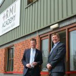 Rt Hon Jeremy Wright QC MP for Kenilworth and Southam opening the academy with RMI director, Stuart James (right).