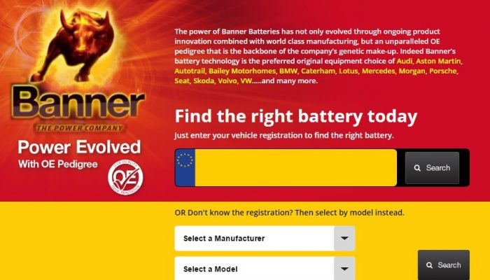Banner launches enhanced 'battery finder'