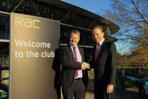 Nick Walker (left) and Andrew Steer shake hands on cooperation