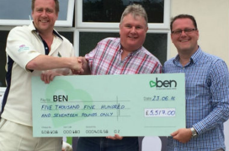 Over £5,500 raised for BEN in annual cricket match