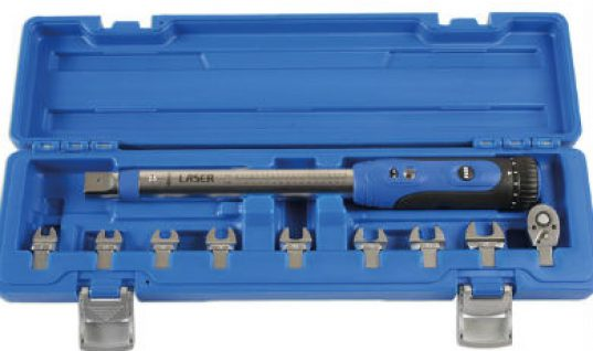 "Detachable-head 1/4"" drive torque wrench at Laser"