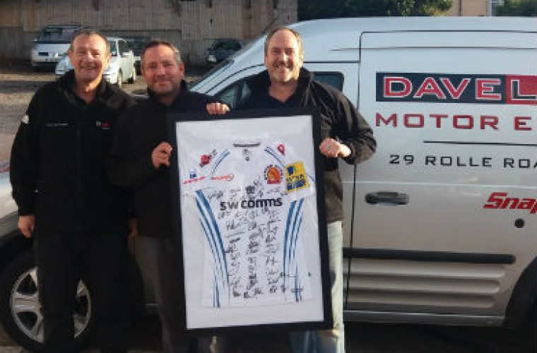 Exmouth garage owner wins exeter chiefs shirt at workshop