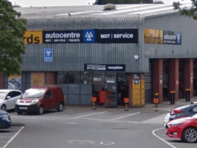 A Halfords MOT fraudster has been charged. Image credit: Google Street View.