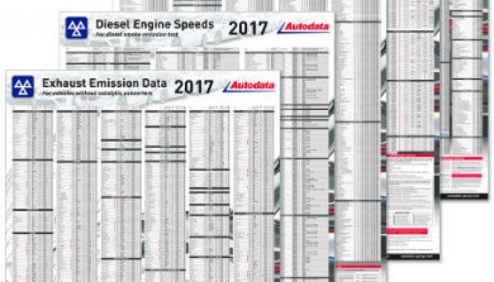 New 2017 Autodata wall charts